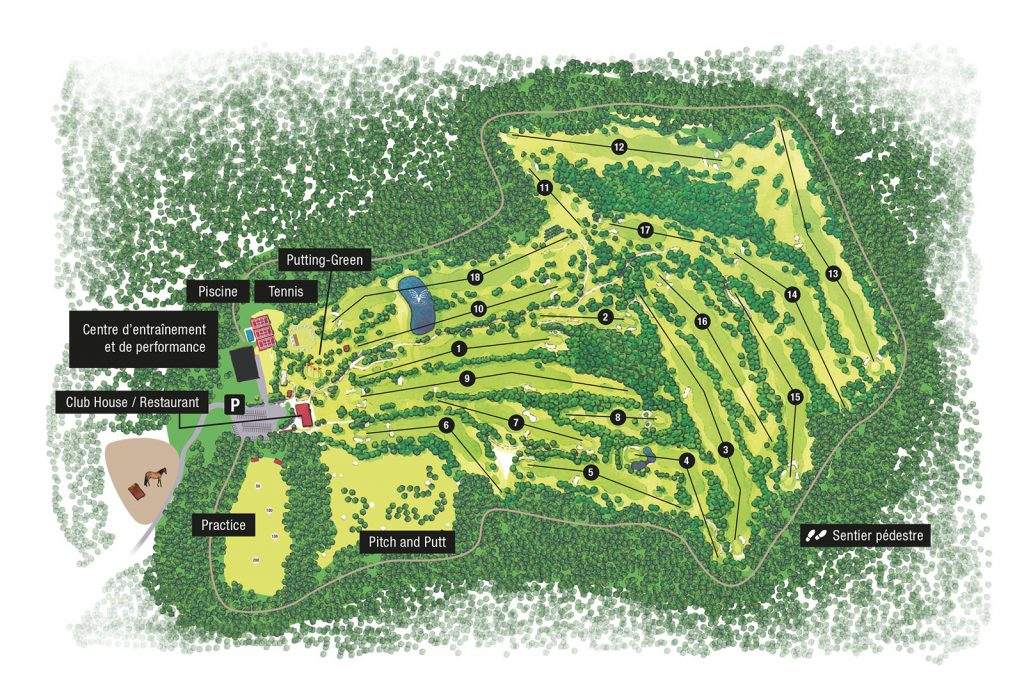 Coutry Club Norges : plan du Golf